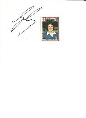 George Burley 6x4 inch autograph piece, former football player EL346