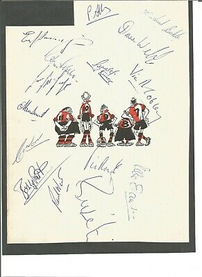 Queens Park Rangers multi signed 1970s A4 page mounted on black card , EL355