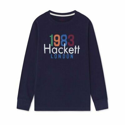 Hackett boys winter 2019 Indigo blue long sleeved logo top age 9-10 years