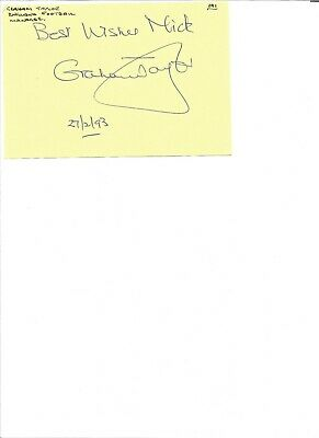 Graham Taylor 6x4 inch autograph piece, former English football player EL368