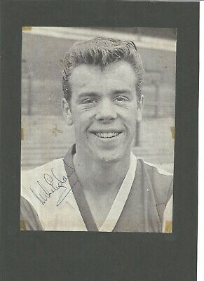 Mike England signed  12x10 inch newspaper page,   former football player EL372