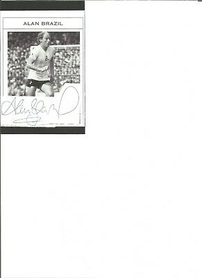 Alan Brazil 6x4 inch autograph piece,  former football player EL373
