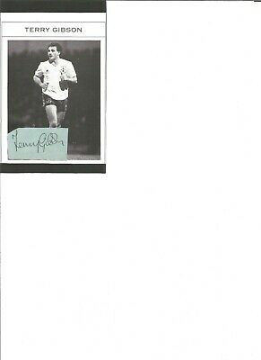 Terry Gibson 6x4 inch autograph piece, former football player EL374