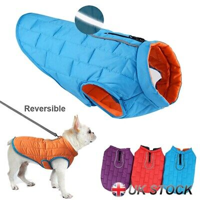 Pet Dog Waterproof Clothes For Autumn Winter Warm Padded Coat Vest Jacket Large