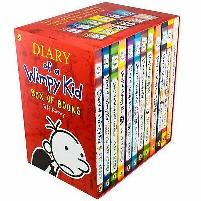 Diary of a Wimpy Kid Collection 12 Books Set by Jeff Kinney NEW