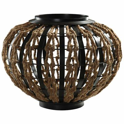 Uttermost Aren Rope Woven Basket in Natural and Oil Rubbed Bronze