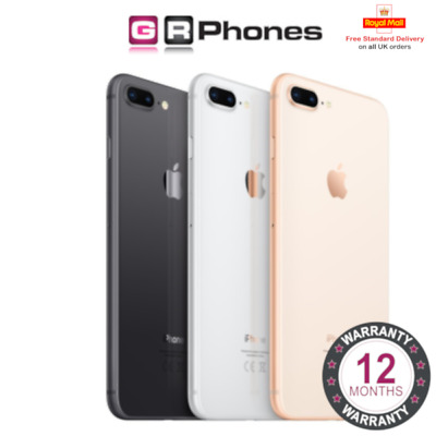 Apple iPhone 8 Plus - 64GB 256GB Various Colours Unlocked Refurbished Smartphone