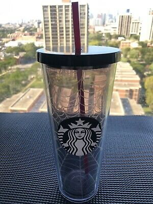 2019 Starbucks Fall Halloween Silver Glitter Spider Web Tumbler Limited Edition