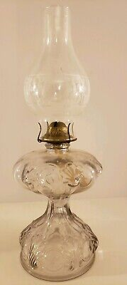 Antique Victorian Ornate Footed Heavy Glass Oil Lamp Table Lamp - P&A Mfg. Co.
