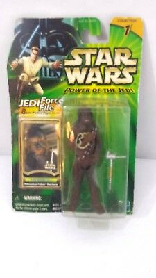 """Hasbro Star Wars Power of the Jedi """"Chewbacca"""" Jedi Force File Collection 1 2000"""
