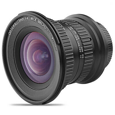 Opteka 15mm 1:1 Macro Wide Angle Lens for Canon EOS 4000D 100D 200D 250D 1000D