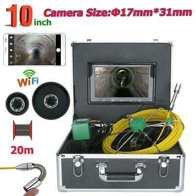 WiFi Industrial Drain Pipe Sewer Inspection Video Camera LED Lights HD 1000TVL