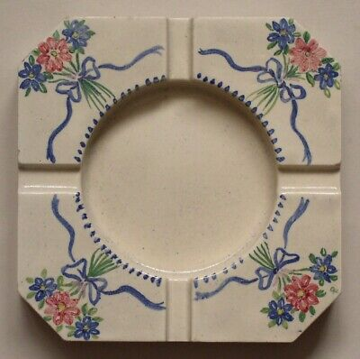 "Hand painted 5""sq ashtray by Packard & Ord, c1948"