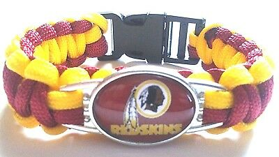 Washington Redskins NFL Football Paracord NFC EAST Bracelet Wristband unisex NEW