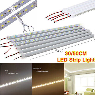 30/50CM 5630 LED Under Cabinet Lamp Strip Hard Light Tube Rigid Hard Bar DC 12V