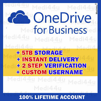 OneDrive for Business 5TB [Lifetime Account] [Custom USERNAME] INSTANT DELIVERY