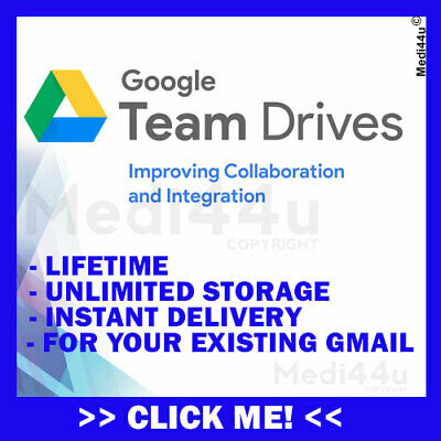 Unlimited Google Team Drives (For Existing Google Drive Account) (Lifetime)