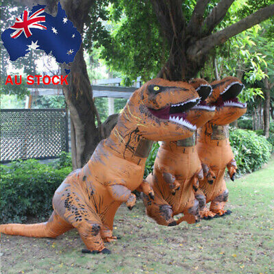 Halloween Inflatable Dinosaur T-REX Costume Adults Child Jurassic Blowup Outfit