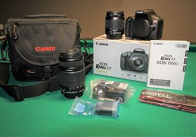 Canon EOS Rebel T7 24.1MP Digital SLR Camera with EF-S 18-55 III Lens Kit