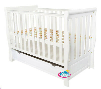 """Baby Cot /Baby Bed With Drawer/ Junior Bed """"Megan"""" + Selection Of Mattress"""