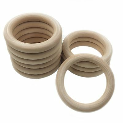 20pcs Baby Newborn Natural Round Wood Teething Ring Wooden Teether Toy Gifts DIY