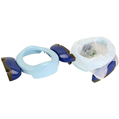 Potette plus 2 in 1 portable potty & trainer seat blue with liners & travel bag