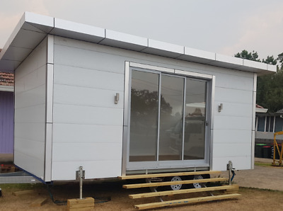Fast Assembling Fully Insulated 1 -2 Bedroom up to 60m2 Granny Flat Cabin Office