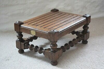 Antique Edwardian Stool Made With Timber Removed From H.M.S BRITANNIA 1869-1905