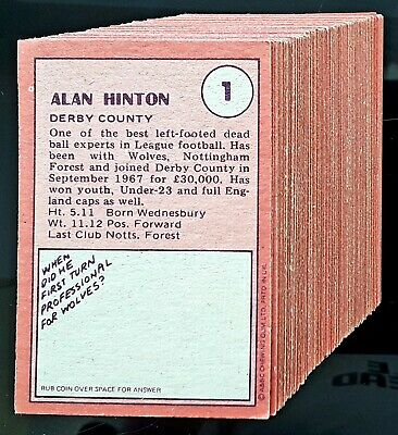 A&BC Footballers (Red Back, Rub Coin): near set 119/132 cards in excellent condn