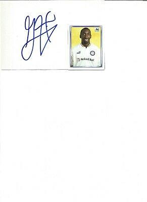 Jimmy Floyd Hasselbaink 6x4 inch autograph piece, former football player   EL403