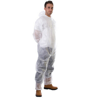 Supertouch 17403 PP Non-Woven Disposable Coverall White Large