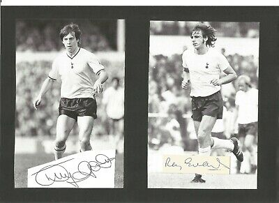 Tony Galvin and Ray Evans signed 6x5 inch b/w book , football player   EL411