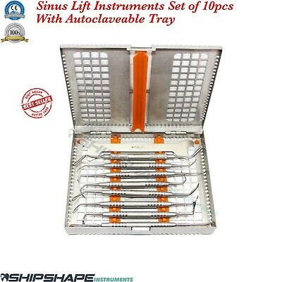 Dental Sinus Lift Instruments Implantology Sinus Lifting Oral Surgery Kit + Tray