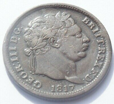1817 King George III Shilling contemporary forgery coin