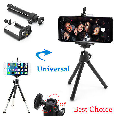 Universal Mobile Phone Mini Tripod Clip Clamp Holder 360° Rotation Stand Mount