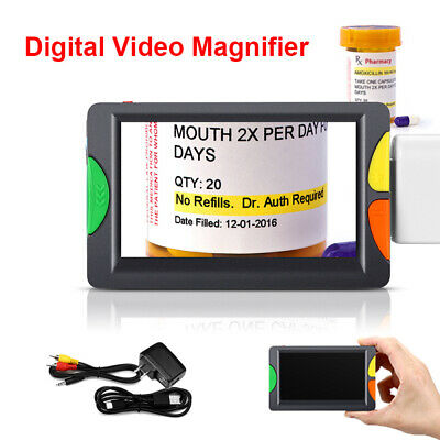 Eyoyo Portable 4.3 Inch Electric Magnifier 2~12X Zoom for Low Vision Reading Aid