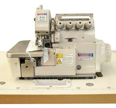 Eastman Automation Industrial 4 Thread Overlock Sewing Machine