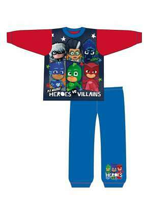 Boys Kids Toddler PJ Masks Character Pyjamas Pjs Nightwear Age 1.5 To 5 Yrs