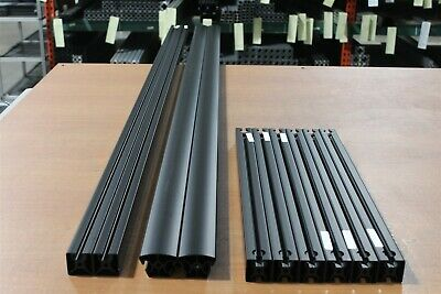 8020 Inc TSlot Aluminum Mixed 40 Series Black Extrusion Lot 10pcs F4-07