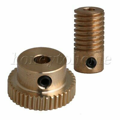1:40 0.5 Modulus 40 T Brass Worm Wheel Gear Shaft Set for DIY Accessories
