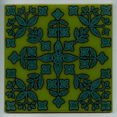 "Screen printed 6""sq tile by Pilkington's + Carter, 1975"