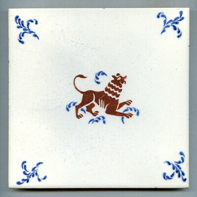 "Screen printed 6""sq tile by Pilkington's, 1958"
