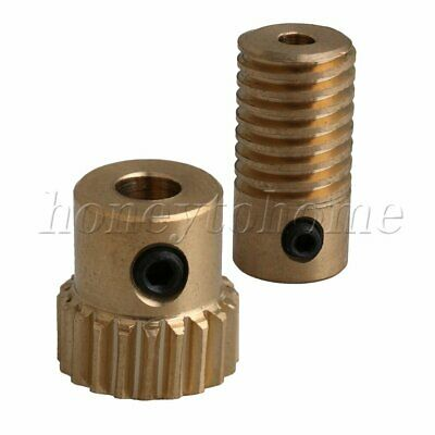 1:20 0.5 Modulus 20 T New Brass Worm Wheel Gear Shaft Set for DIY Accessories