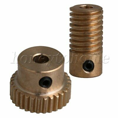 1:30 0.5 Modulus 30 T Brass Worm Wheel Gear Shaft Set for DIY Accessories