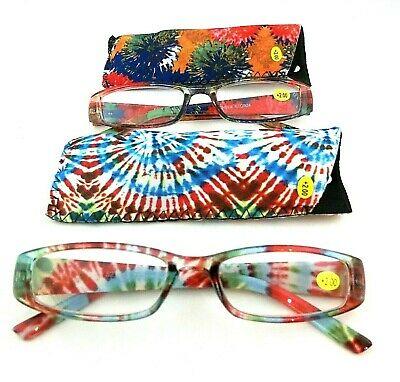 New Women/'s Floral Tie Dye Burnout Flowers Style Fashion Readers Reading Glasses