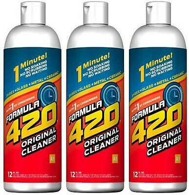 Formula 420 Glass Metal Ceramic Pipe Cleaner 12 Oz. 3 Pack SAME DAY SHIPPING