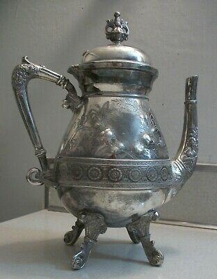 Aesthetic Silver Plated Coffee Pot, Meriden Plate, Footed