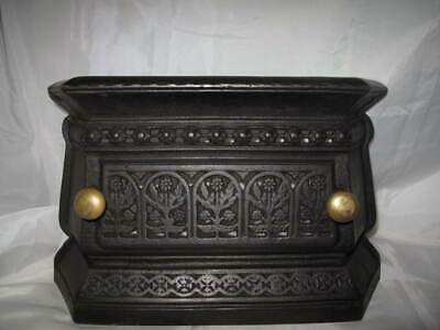 Antique Cast Iron Victorian Tidy Betty Range Fire Front Fire Guard