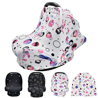 Baby Kid Stretchy Nursing Apron Scarf Breastfeeding Cover Car Seat Breathable