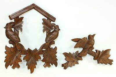 CUCKOO CLOCK CASE CROWN and FRONT FRAME VINTAGE NOS CARL ZOOS - GG86
